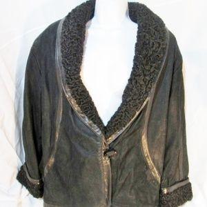 MARVIN RICHARDS PERSIAN LAMB FUR jacket coat parka